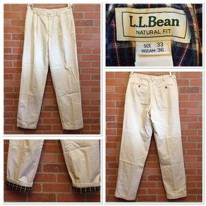 L L Bean mens flannel lined pants 33 x 36 (JJ62)